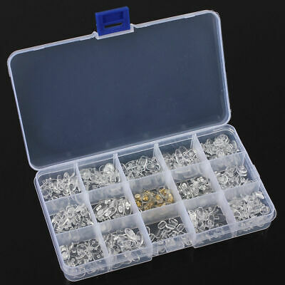 300pcs Silicone Eyeglass Nose Pads Kit Glasses Repair Tool Assorted with Case