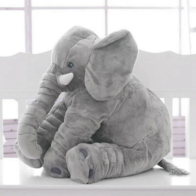 Children Large Size Elephant Doll Soft Plush Toys Stuff Lumbar Pillow Large Gift