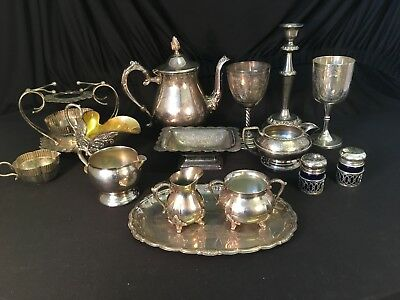 Collection Of Silver Plated Items Tea Coffee Service - Viners Antique Vintage