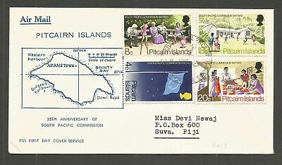 Pitcairn Islands 1972 South Pacific Commission  Fdc Sg,120-123 Lot 6087A