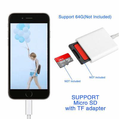 Lightning to SD Card Camera Memory Reader Adapter For iPhone 6/6s/7 P/iPad Mini