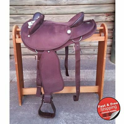 Wide Gullet- Brown-Synthetic Suede-Half Breed-Swinging Fender Saddle