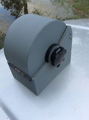Vintage Large Gray Steel Rolodex 3500-S Metal Covered Rotary Card File Key Lock