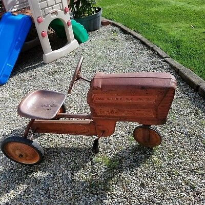 Vintage 1960's Child's Red Metal  Murray Pedal Tractor