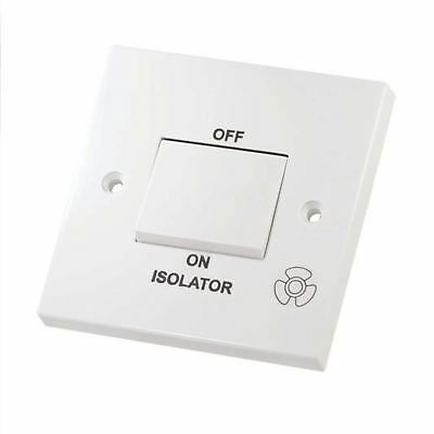 Selectric Fan Isolator Switch Plate 3 Pole 10Amp Plastic White LG208