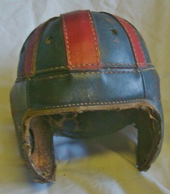 Early Old Antique 1920's-30's SPALDING BRAND Leather Football Helmet Vintage