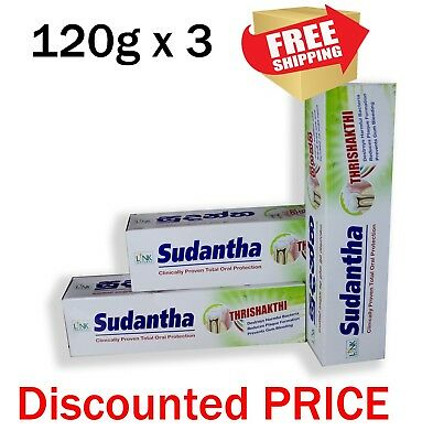 120gx3 link sudantha herbal toothpaste total oral protection homeopathic natural