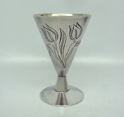 Vintage Russian Sterling Silver Art Deco Cup  Beaker Goblet