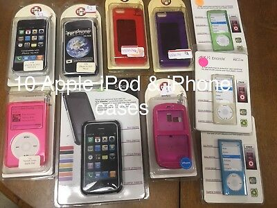 10 Apple iPhone 3g 3gs 5 5s SE iPod Classic Nano 5th Generation Case lot NEW USA
