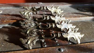 Set/Lot of 4 Vintage Keeler Brass Co French Provincial Drawer Pull Handles. K854