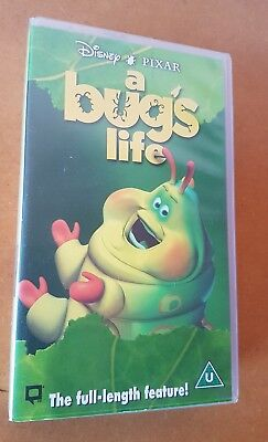 Disney Pixar A Bug's Life Full Length Vintage Retro Classic VHS Video Tape