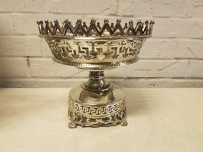 Victorian Silver Plated Wedding Basket Silverplate Rosewell Gleason and Sons