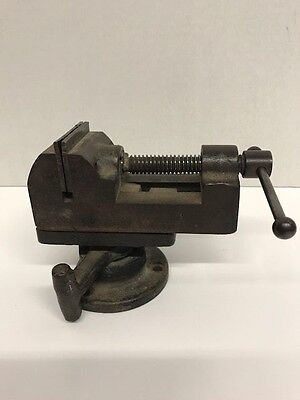 "Vintage Heavy Duty Table Top Tabletop Metal Vice 5"" Tool"