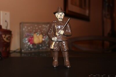 Antique Hubley Soldier (Minuteman) Cast Iron Bank Still Bank Penny Bank