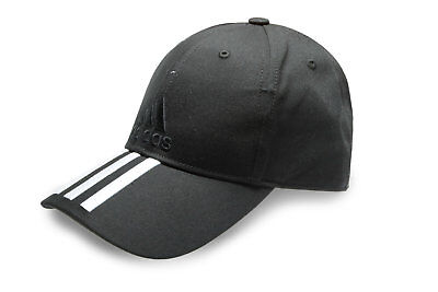 adidas Mens 3 Stripes Cotton Sports Casual Hat Baseball Cap Black
