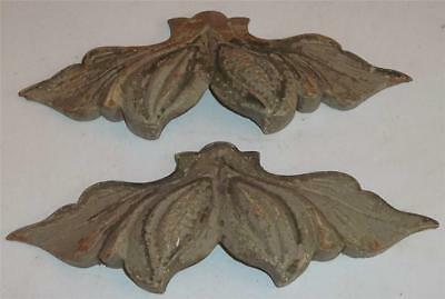 Antique Wooden Drawer Pulls  Matching Pair