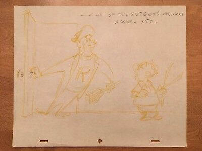 "Mr. Magoo - ""Trouble Indemnity"" Original Cartoon Layout Drawing Art (UPA, 1950)"
