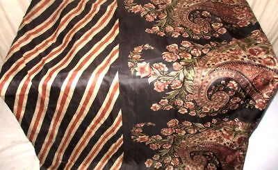 Cream Black Pure Silk 4 yard Vintage Sari Elegant on sale London Function #905DK