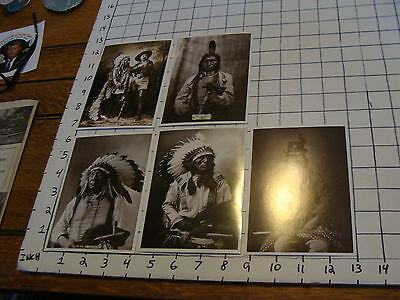 Vintage 5 POSTCARDS, AZUSA: sitting bull, low dog, high horse, red cloud, soldie