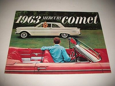 1963 Mercury Comet Canadian Issue Sales Brochure S-22 Custom Station Wagon