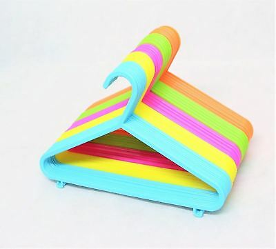 New Multi Coloured Childrens Kids Plastic Coat Hangers Child Baby Clothes