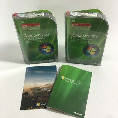 2 Microsoft Windows Vista Home Premium Upgrade Disc Lot