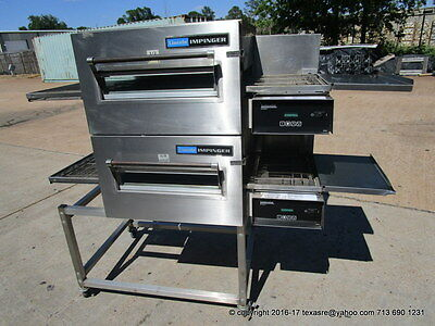 Lincoln Impinger 1116 Gas Double Stack Conveyor Pizza Oven on Casters