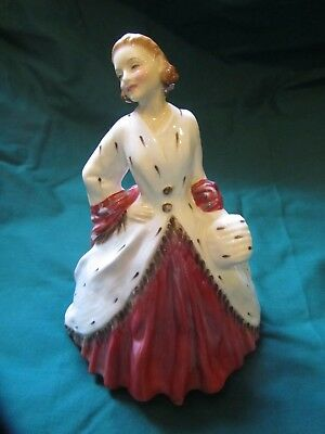 """Early Royal Doulton Figurine """"The Ermine Coat"""" 1945"""
