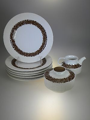 Thomas China by Rosenthal Arcta Braun (Brown) 8 PC Brunch Set (Mid-Century)