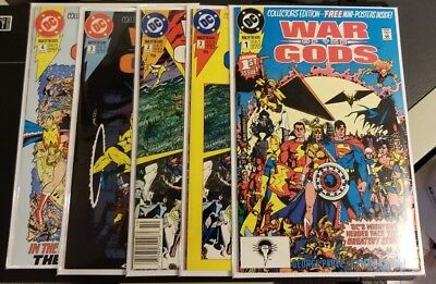 DC - WAR OF THE GODS 1 2 3 4 & variant - 1991 - Wonder Woman/George Perez - VF