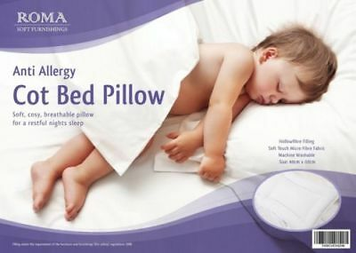 Luxury Anti-Allergy Baby Cot Bed Pillow Soft, Junior, Kids, Toddler Cot Pillow