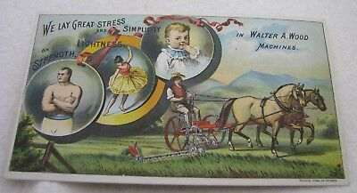 Antique Walter A Wood Farm Implement Machinery Advertising Trade Card