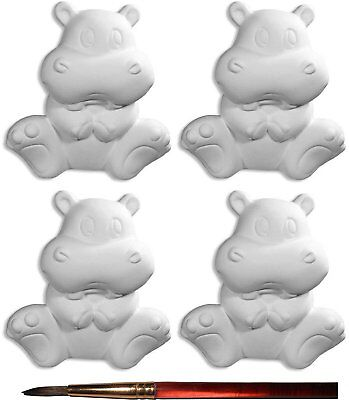 After School Special - Helen The Happy Hippo and Paintbrush - Set of 4 - Host Yo