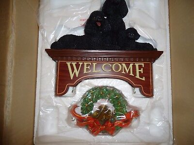 Danbury Mint The Poodle Welcome Sign New in Box
