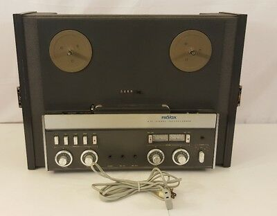 Vintage Revox A77 A-77 Reel To Reel Tape Deck w/ Dust Cover Working Has issues
