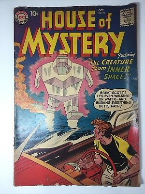 """House of Mystery #79 (Oct 1958, DC) featuring """"The Creature from Inner Space"""""""