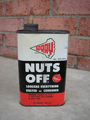 vintage Nuts Off penetrating oil can.-1960's - Oaks, PA