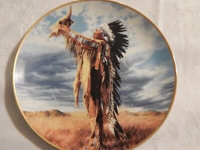 Rare 1991 American Indian Heritage Foundation Museum Limited Collectible Plate