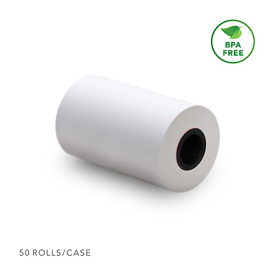 "Thermal Receipt Paper Rolls 2 1/4"" X 50' (50 Rolls) for Clover Flex"