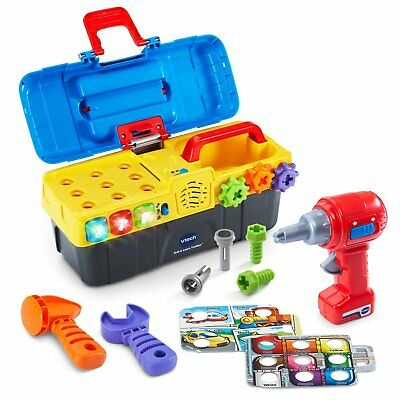 Educational Toys For Boys Toddler Kids Children Toolbox Playset Drill & Learn