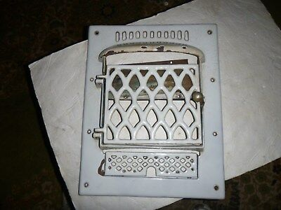Vintage Porcelain Heat Grate Floor Door Register   2 available, listing is for 1