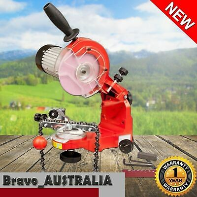 350W Chainsaw Sharpener Alloy Chain Saw Bench Mount Electric Grinder Tool