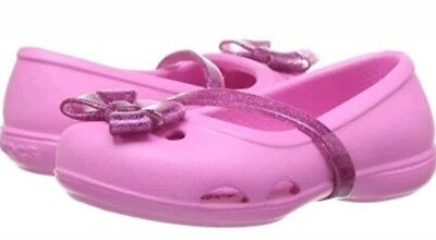 c56073ba4e32 CROCS GIRLS LINA K Flat Party Pink Relaxed Fit Size C5 -  18.99 ...