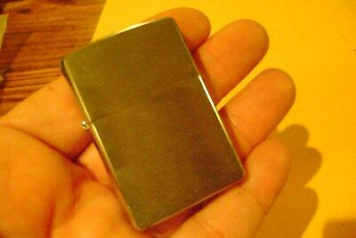 "new old stock 2006 Zippo Silver finish Chrome stainless Lighter ""K"" Bradford USA"