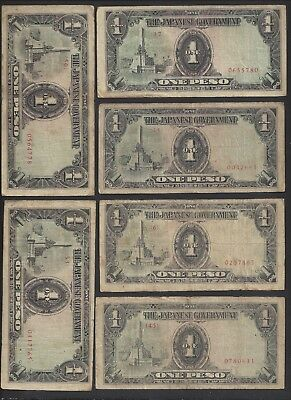 """CIR 6 Notes"" 1943 Philippines 1 Peso Japanese Occupation P-109a. #326"