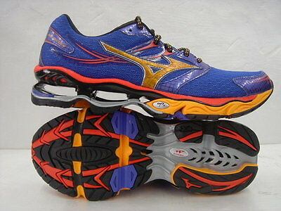 b7f8853bf5 Mizuno Wave Creation 14 Men Running Shoes Blue Yellow Orange Prophecy Sz  10.5