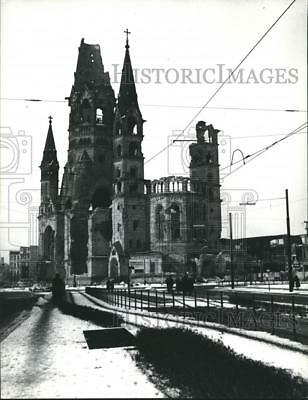 1969 Press Photo End of WWII: The ruins of the Kaiser Wilhelm Memorial Church