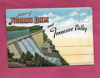 Postcard Folder-Norris Dam&tennessee Valley