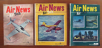 Vintage AIR NEWS with AIR TECH Magazines  Lot of 3  1945-1946  AVIATION AIRCRAFT