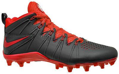 New Nike Huarache 4 LX Mens Lacrosse Cleats Lax Football : Black Red